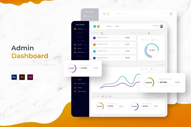 New Admin Dashboard | Admin Template example image 1