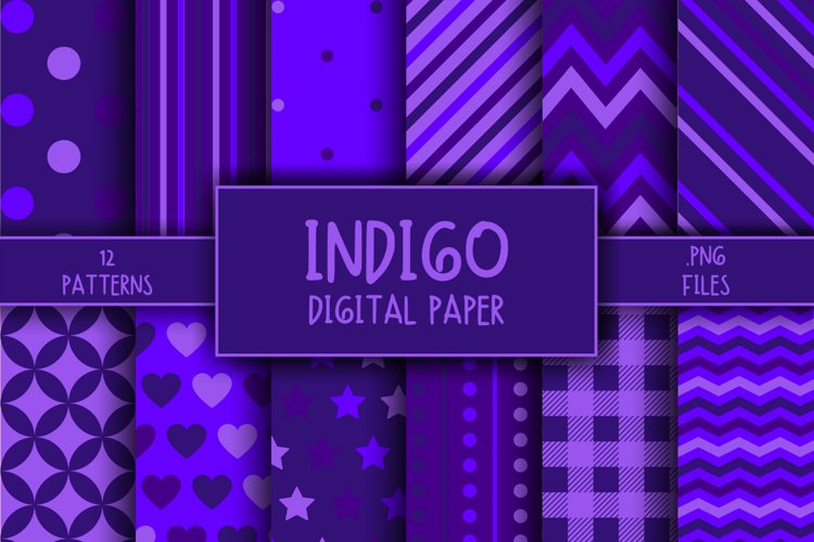 Indigo Pattern Digital Paper example image 1