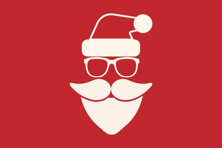 Santa hipster icon for your business example image 1