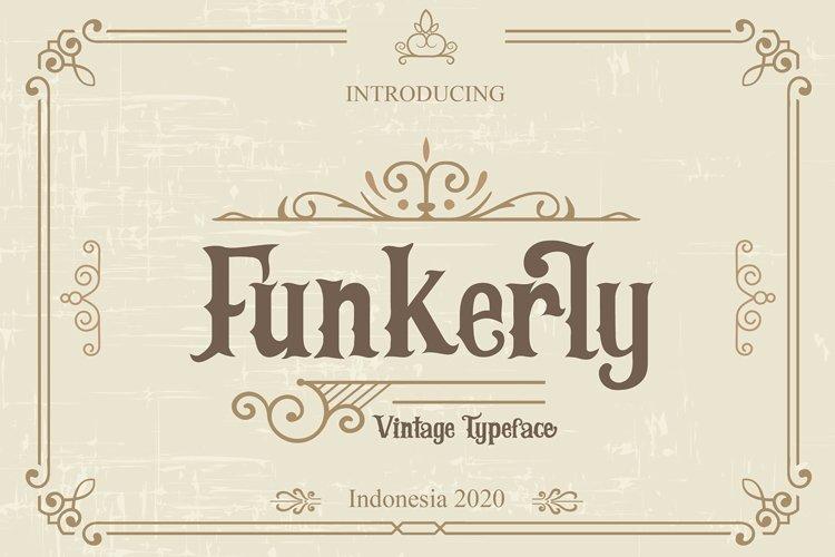 Funkerly Vintage Typeface Serif Font example image 1