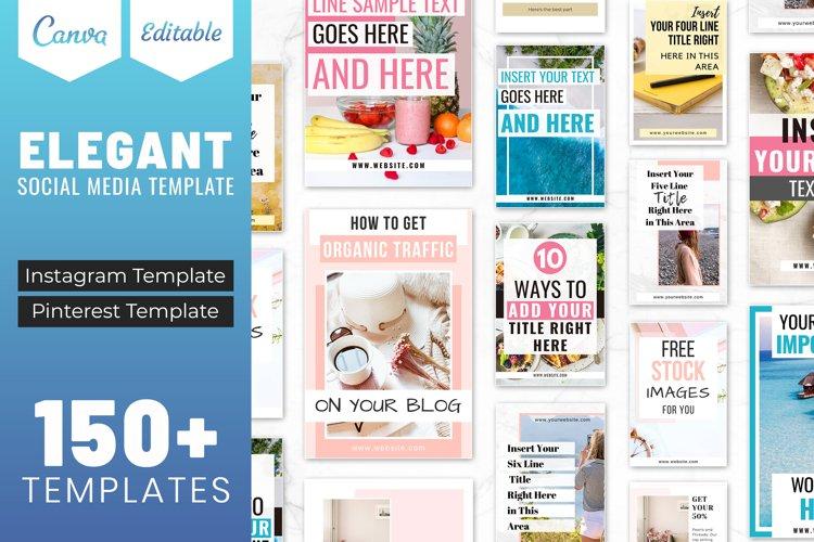 Elegant Canva Editable Social Media Template Bundle
