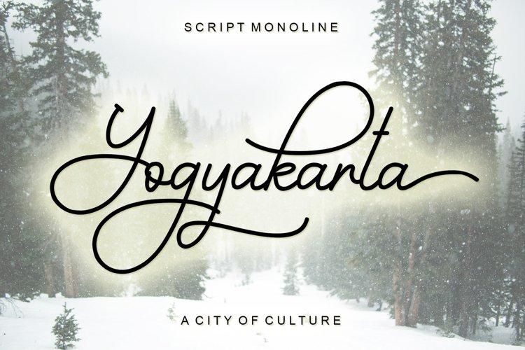 Yogyakarta - Script Monoline example image 1