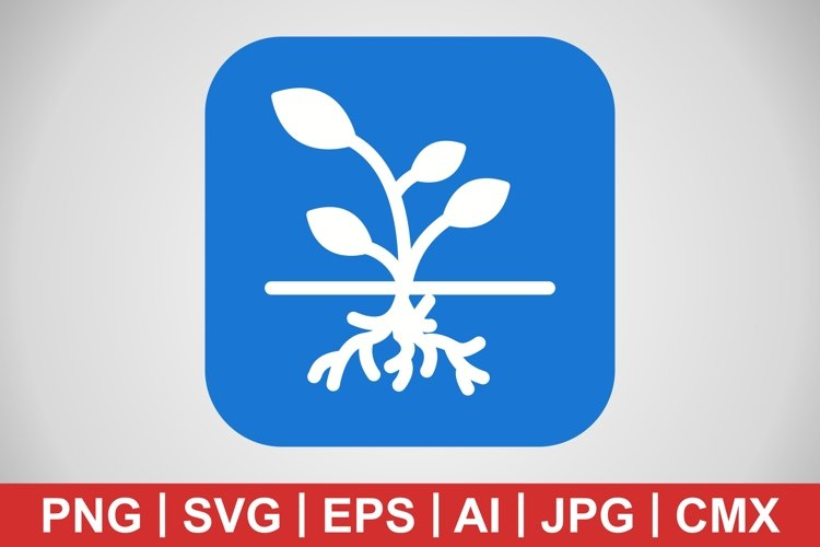 Vector Root Icon example image 1