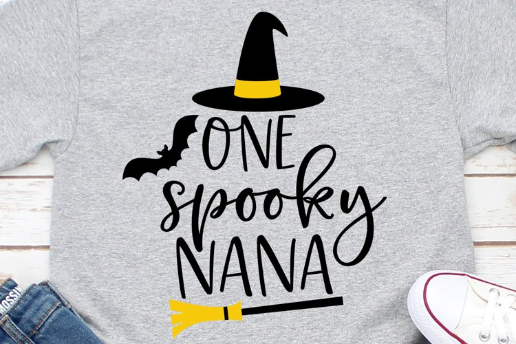 One Spooky Nana SVG, DXF, PNG, EPS example image 1