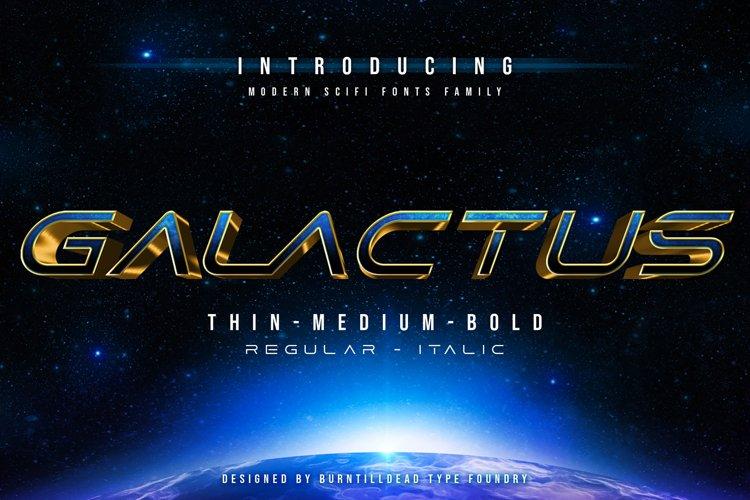 Galactus - SCIFI Font Family example image 1