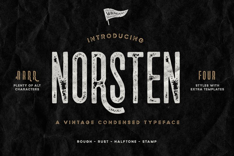 Norsten Condensed Typeface example image 1