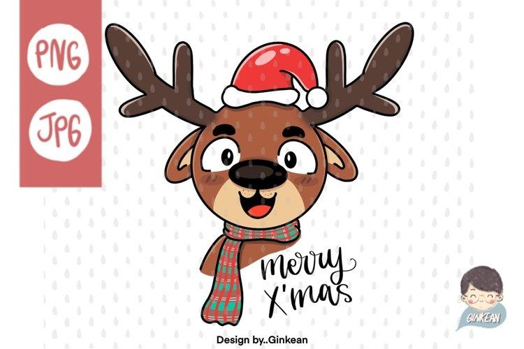 Christmas animal png, Merry christma, Christmas png, cutfile example image 1