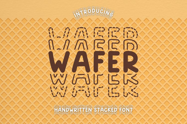 Wafer - A Playful Handwritten Stacked Font example image 1