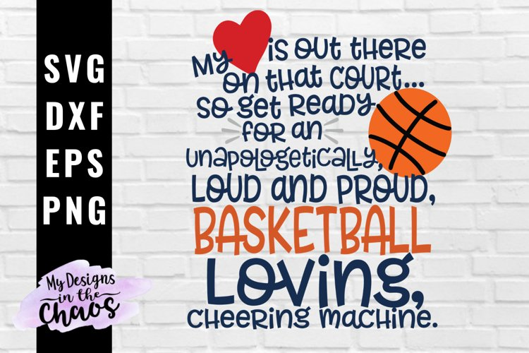 Loud and Proud Basketball Mom SVG PNG DXF EPS | Sports SVG