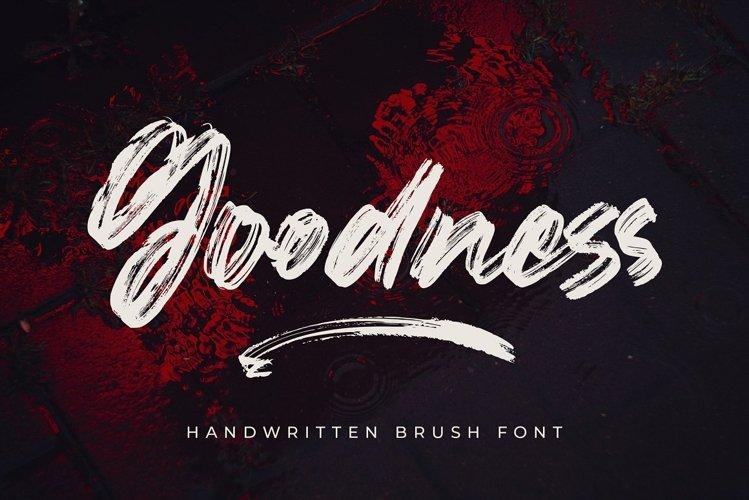 Goodness - Handwritten Brush Font example image 1