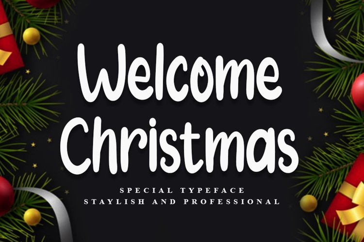 Welcome Christmas | Modern Typeface Font example image 1