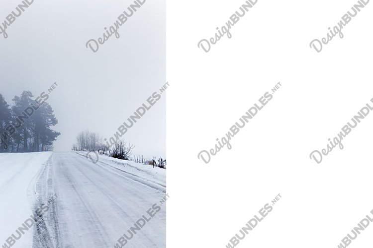 road in winter time example image 1