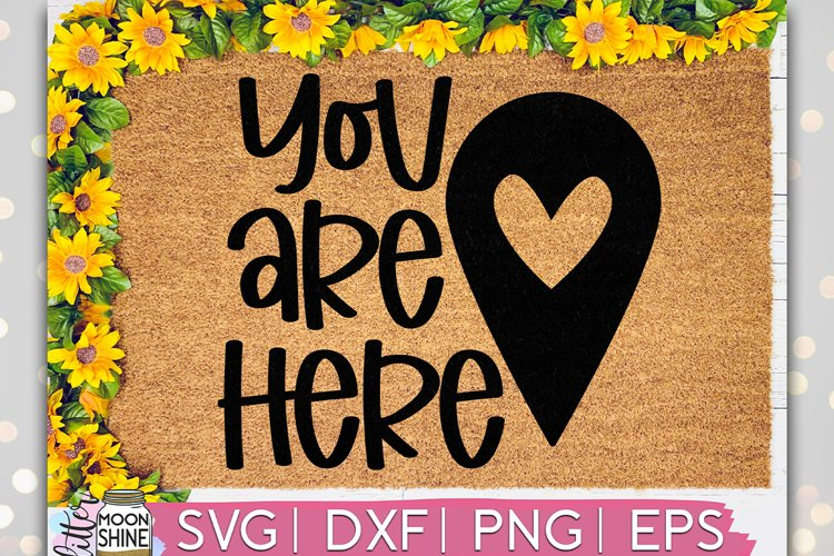 You Are Here Door Mat SVG DXF PNG EPS