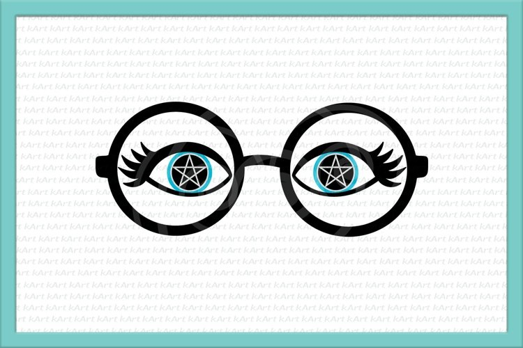 eyelashes svg, glasses svg, witch eyes svg, witch makeup example image 1