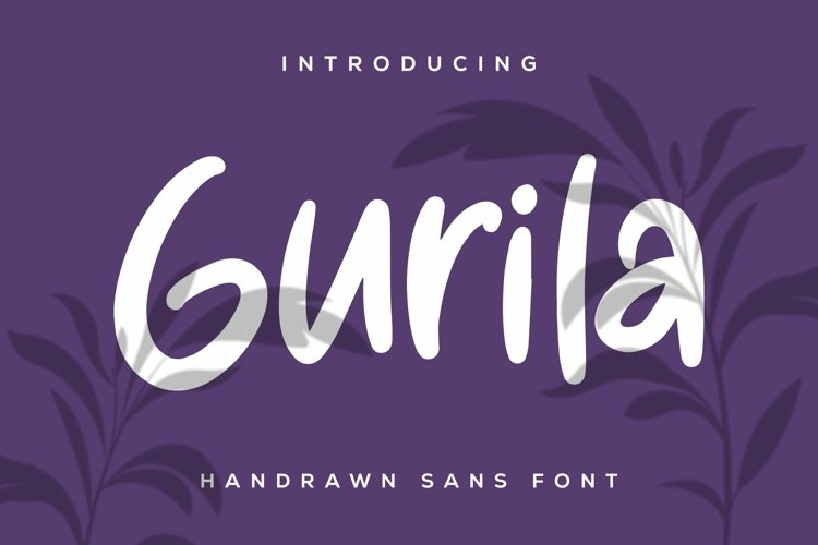 Web Font Gurila - Handrawn Sans Font example image 1
