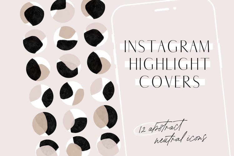 Neutral Abstract Instagram Highlight Covers example image 1