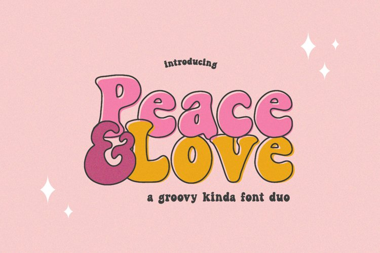 Peace and Love Font Duo example image 1