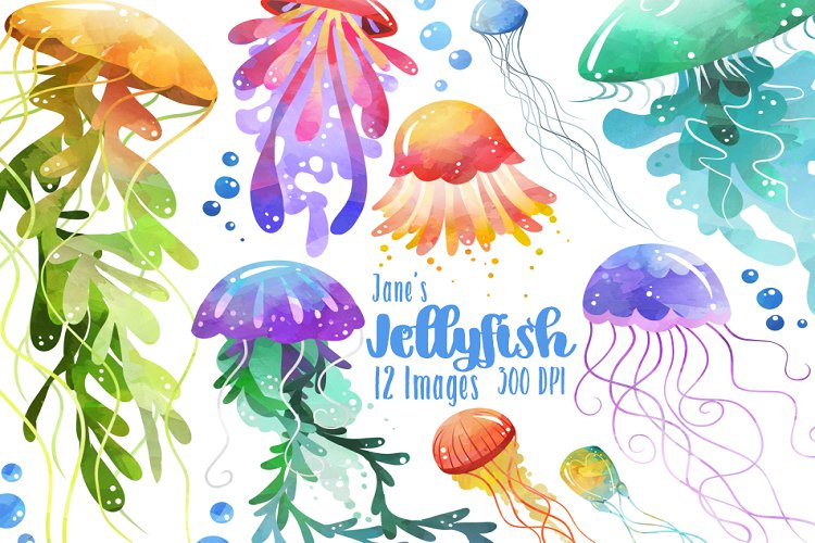 Watercolor Jellyfish Clipart