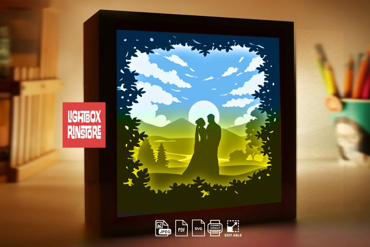 #230 Will you marry me valentines day, 3d paper lightbox