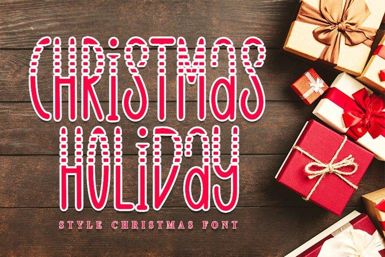 Christmas Holiday - Style Christmas Font example image 1