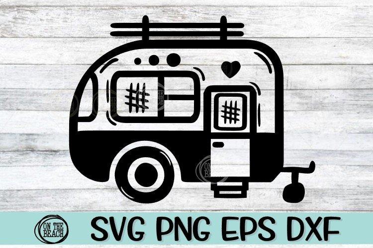SVG Camper -SVG PNG EPS DXF example image 1