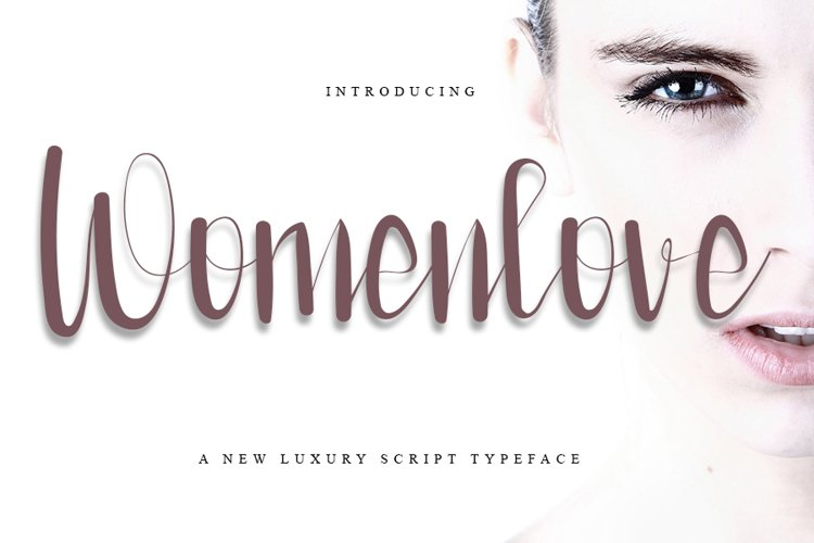 Womenlove - Beauty Calligraphy Font example image 1