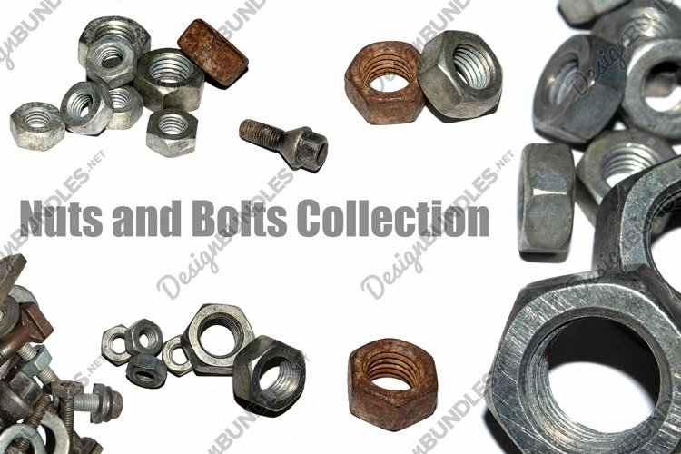 Collection of 79 rusty nuts bolts and screws photographs