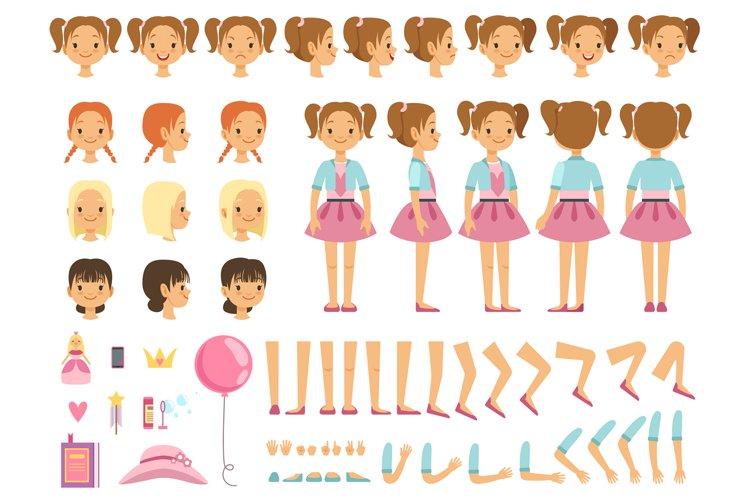 Mascot creation kit of little girl and some children toys. V example image 1