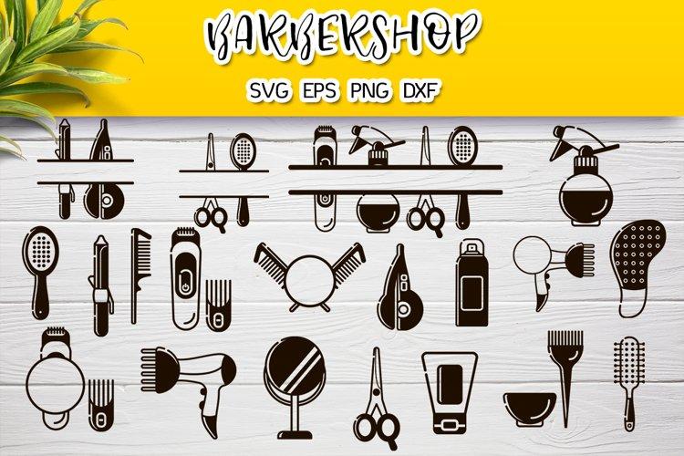 Download Hairdresser Silhouettes Monogram Svg Bundle 1035253 Illustrations Design Bundles