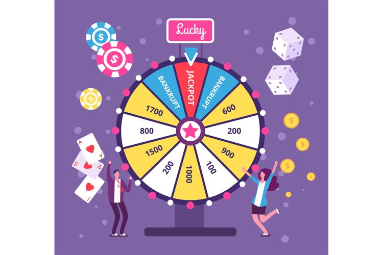 Game wheel concept. People playing risk game with fortune wh example image 1