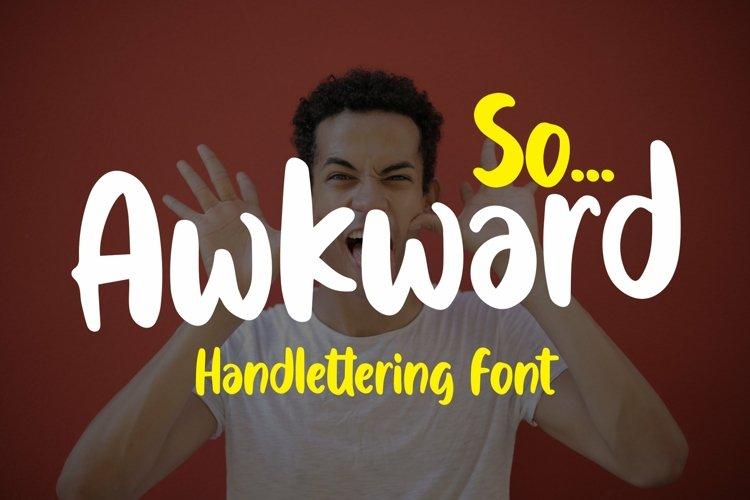 Web Font Awkward - Handlettering Font example image 1