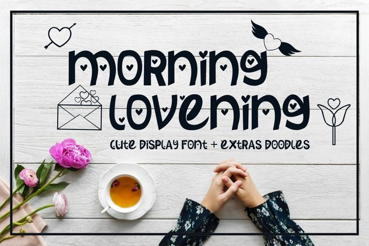 Morning Lovening | Cute Display Font example image 1