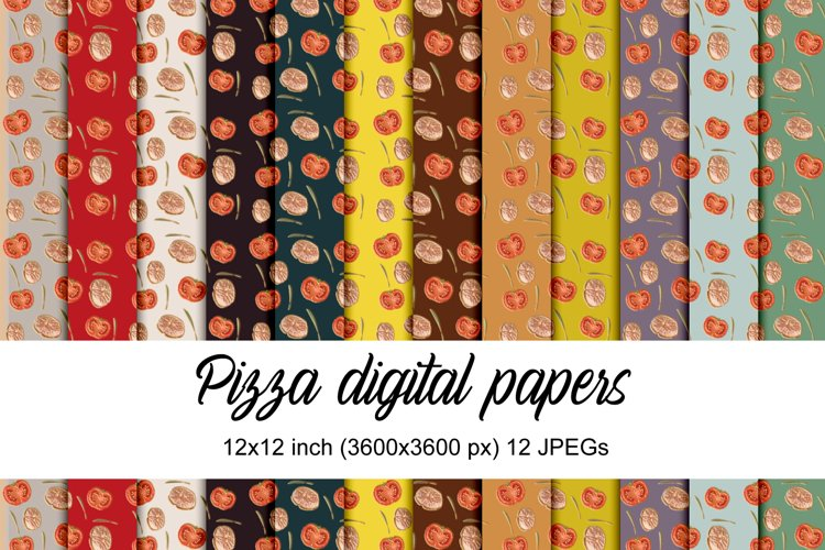 Pizza digital papers example image 1
