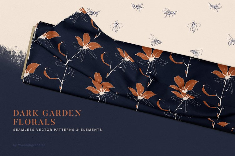 Dark Garden Floral Patterns
