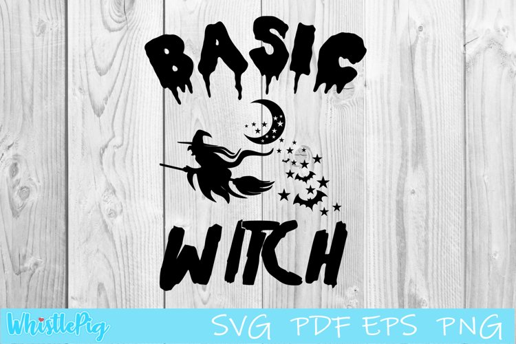 Basic Witch SVG Halloween SVG Halloween Clipart example image 1