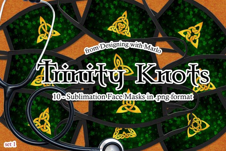 Trinity Knots Face Mask Designs - set 1, Sublimation PNG