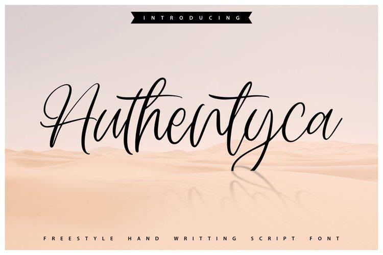 Authentyca | Freestyle Handwritting Script Font example image 1