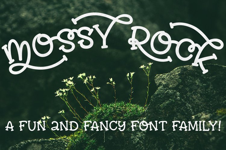 Mossy Rock - fun font family!