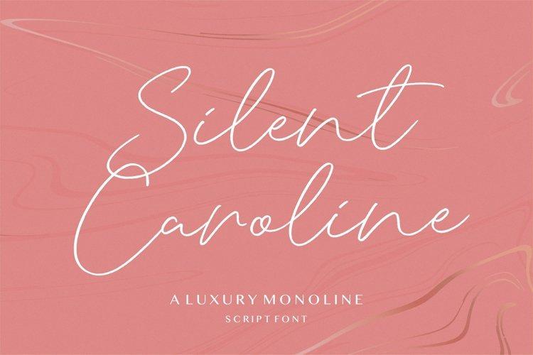 Silent Caroline Luxury Monoline Script Font example image 1