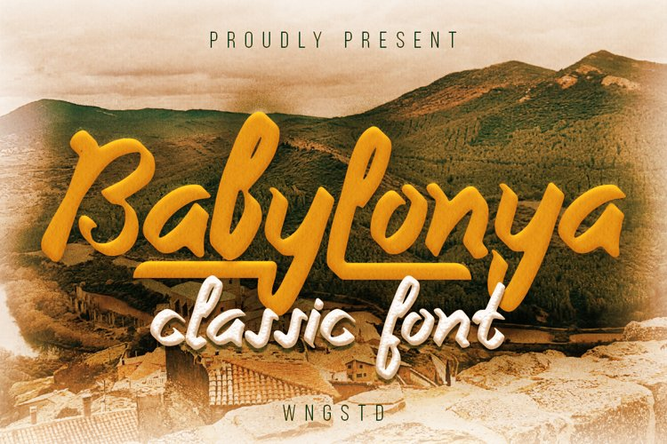 Babylonya - a gorgeous and cursive paint brush font example image 1