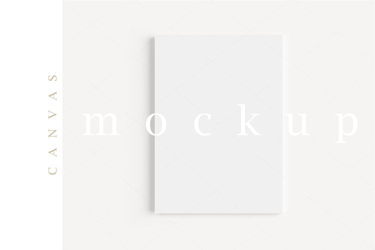 A4 Canvas Mockup Display Simple Modern Painting Mockup/M156 example image 1