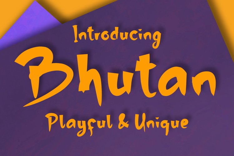Bhutan | Display Font example image 1