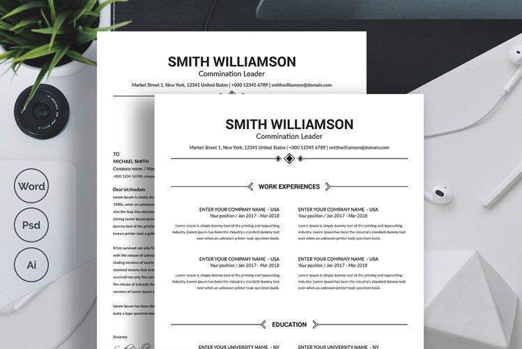 Clean Minimalist Resume Template example image 1