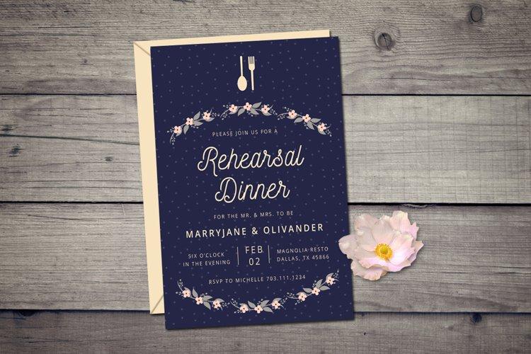Wedding Rehearsal Dinner Invitation example image 1