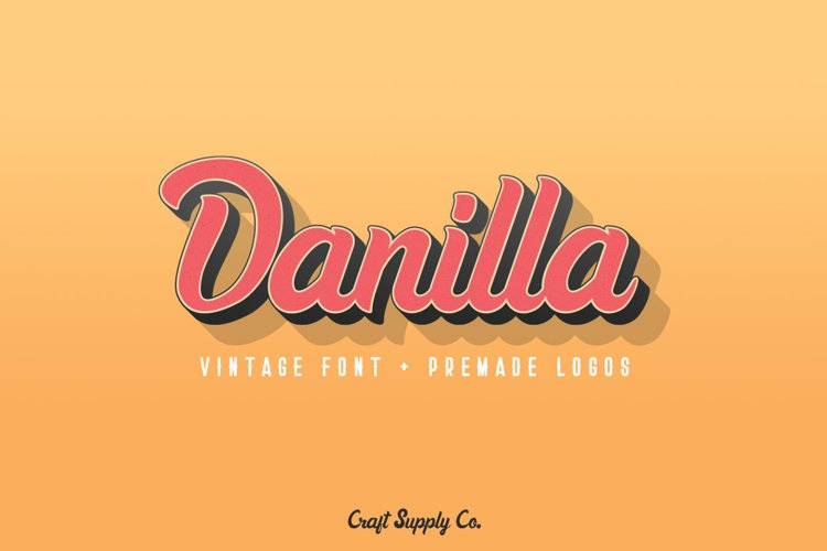 Danilla Font + Premade Logos example image 1