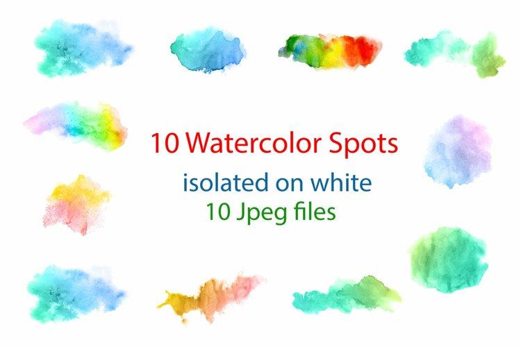 10 watercolor spots
