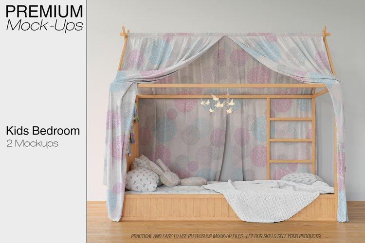 Kids Bedroom Mockup Set example image 1