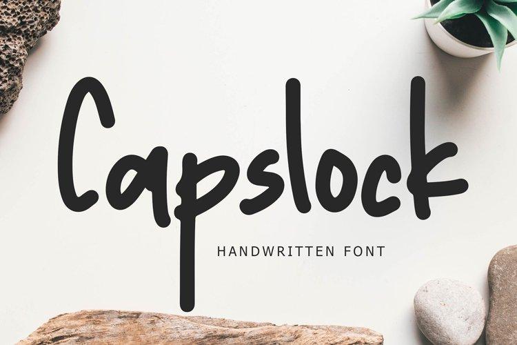 Capslock Handwritten Font example image 1