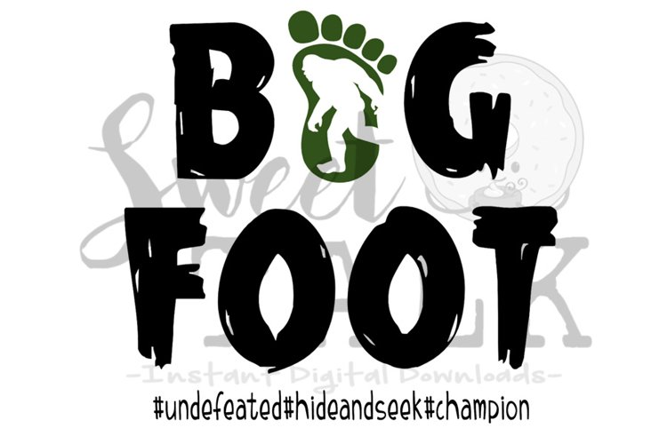 Big foot-svg,dxf,png,jpg, Instant Digital Download example image 1