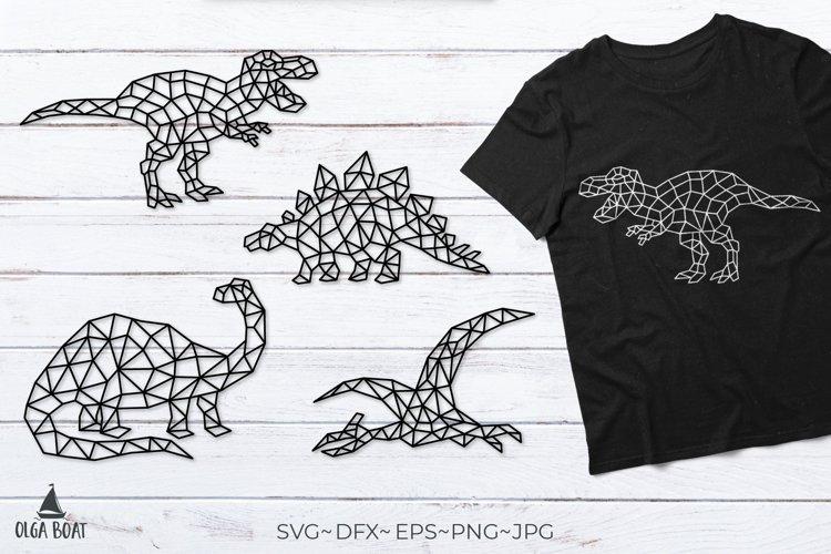 Dinosaur svg T rex svg Geometric animals Dino svg Cut file